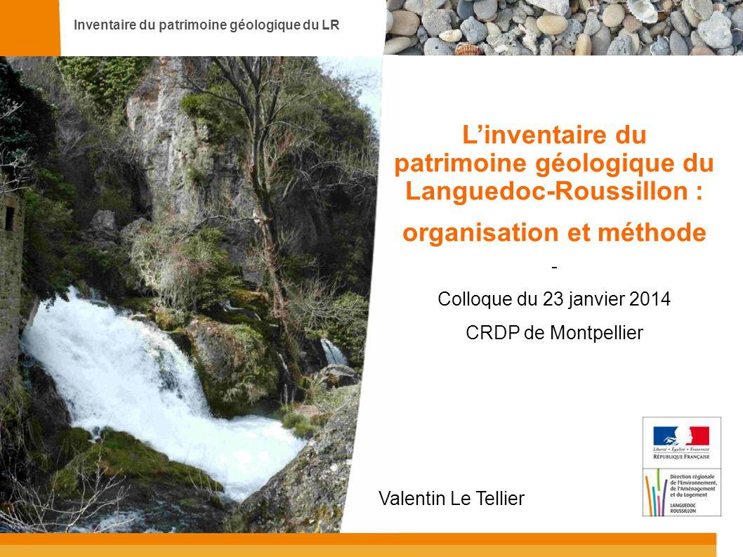 L'inventaire du patrimoine géologique du Languedoc-Roussillon :