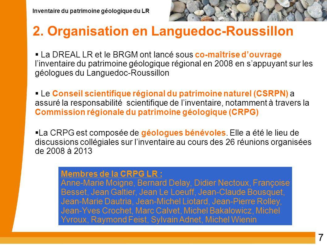 2. Organisation en Languedoc-Roussillon