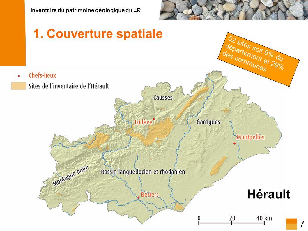 1. Couverture spatiale Hérault