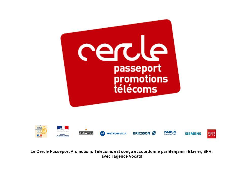 Le Cercle Passeport Promotions Télécoms est conçu et coordonné par Benjamin Blavier, SFR, avec l agence Vocatif