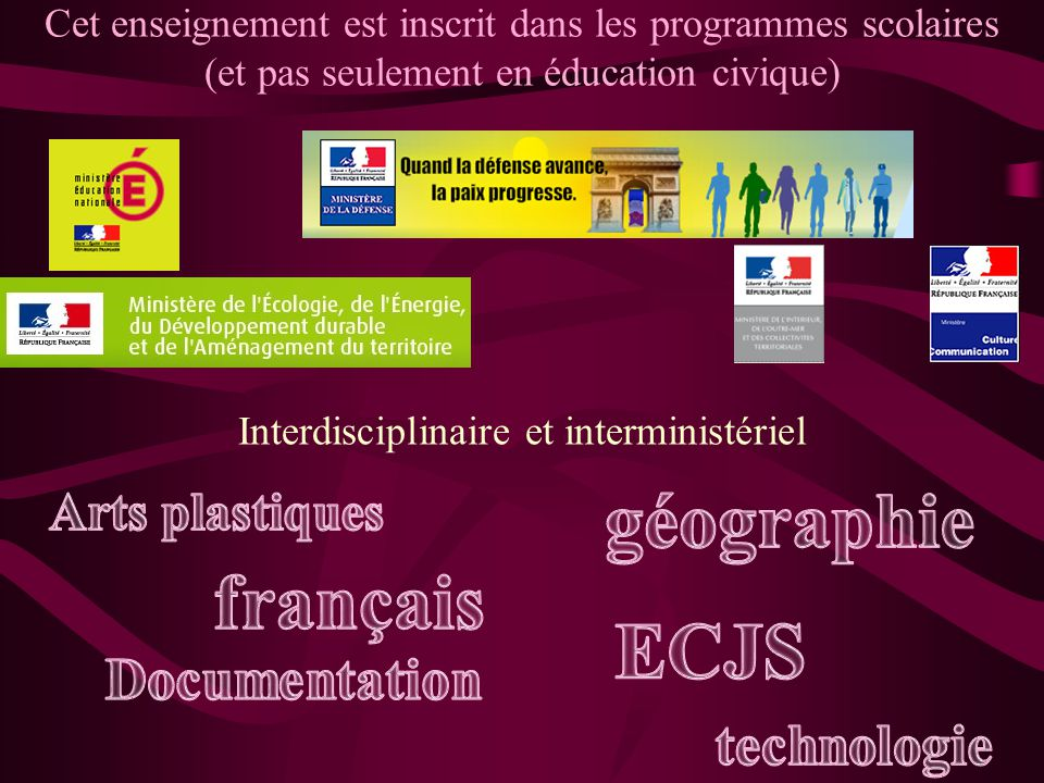 Interdisciplinaire et interministériel