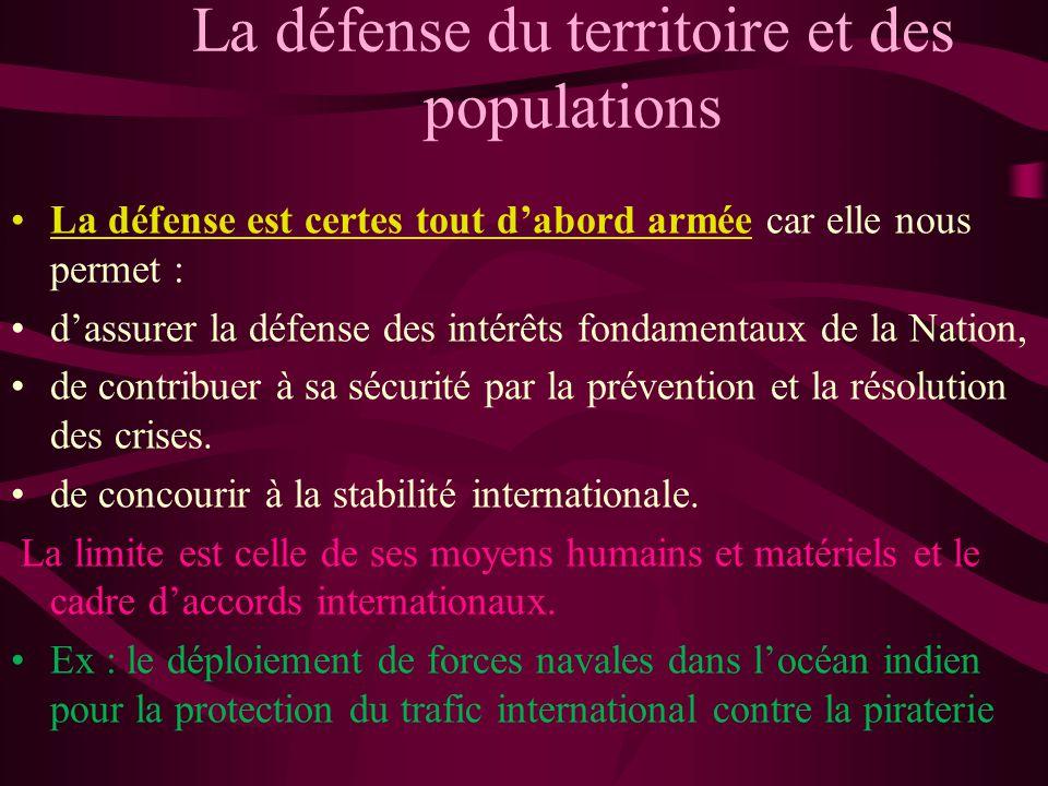 La défense du territoire et des populations