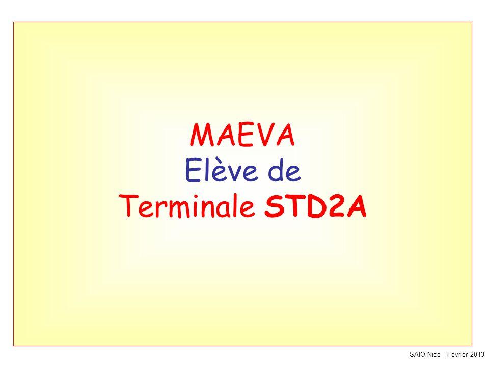 MAEVA Elève de Terminale STD2A