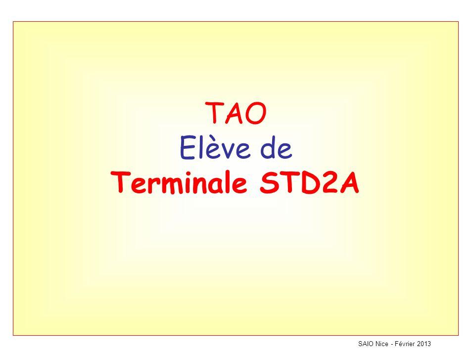 TAO Elève de Terminale STD2A