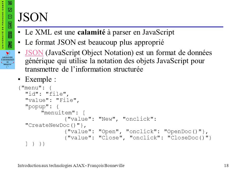 JSON Le XML est une calamité à parser en JavaScript