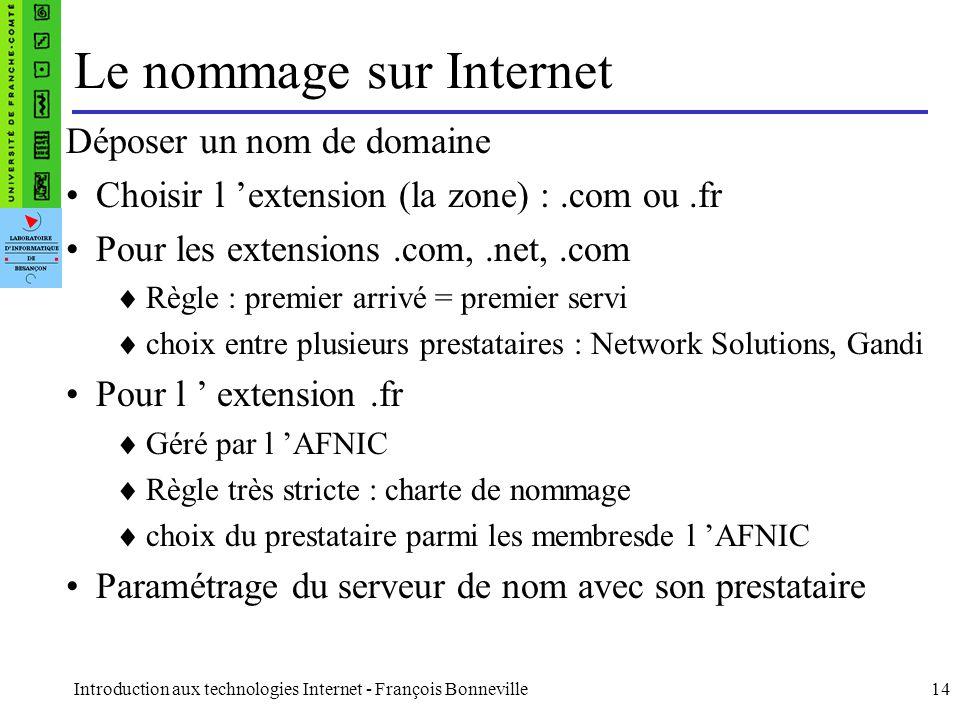 Le nommage sur Internet