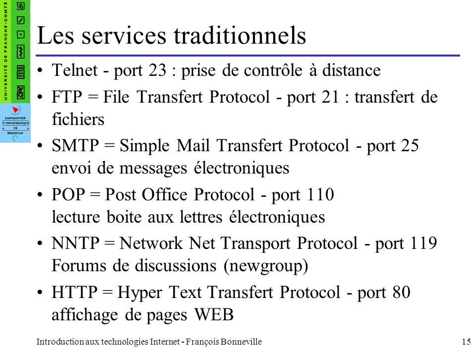Les services traditionnels