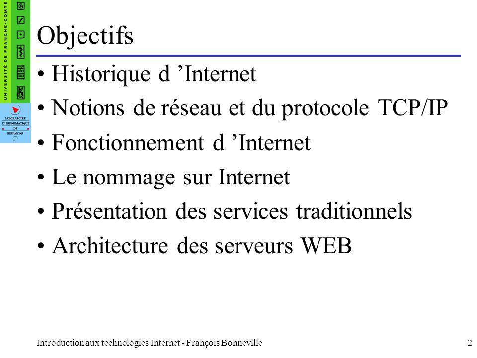Objectifs Historique d 'Internet