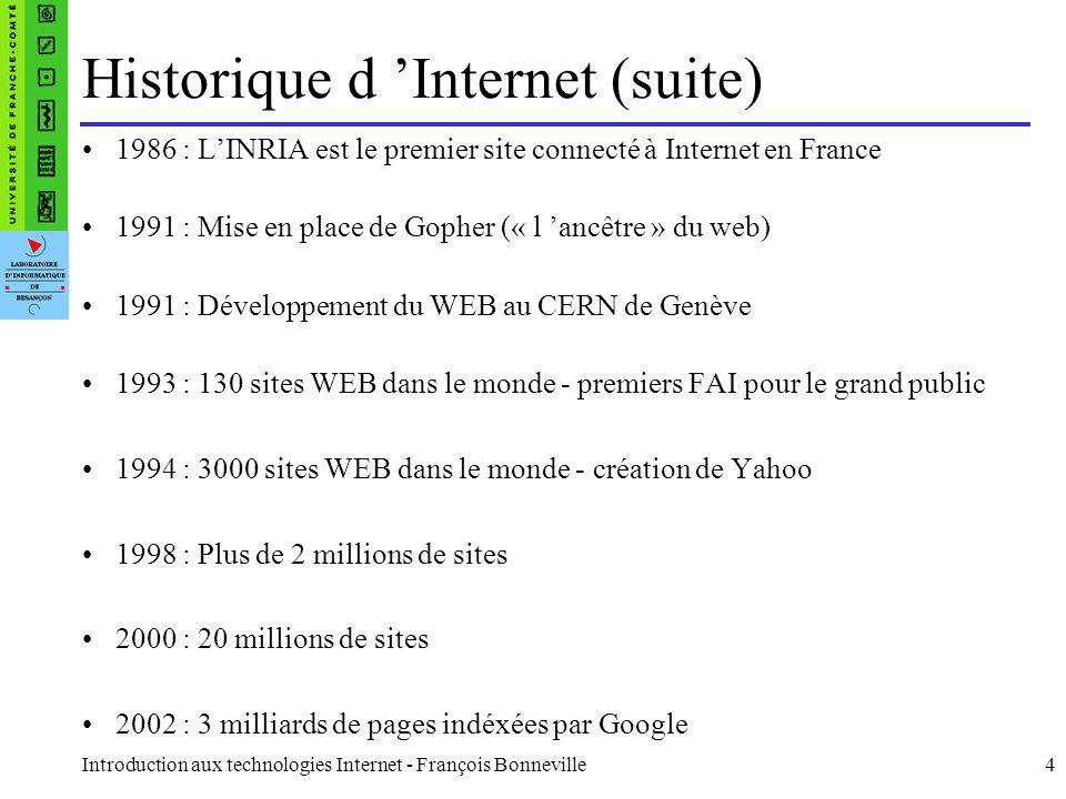 Historique d 'Internet (suite)