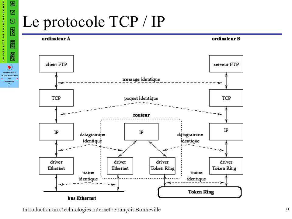 Le protocole TCP / IP Introduction aux technologies Internet - François Bonneville