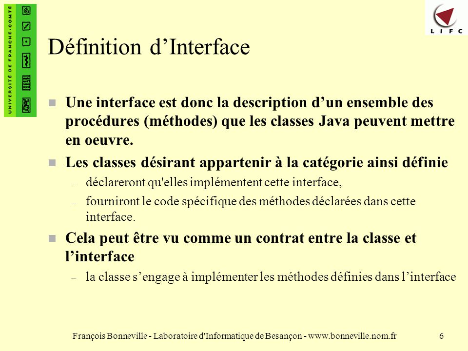 Définition d'Interface