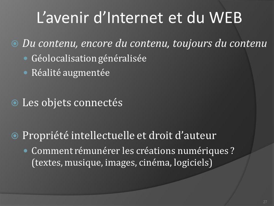 L'avenir d'Internet et du WEB