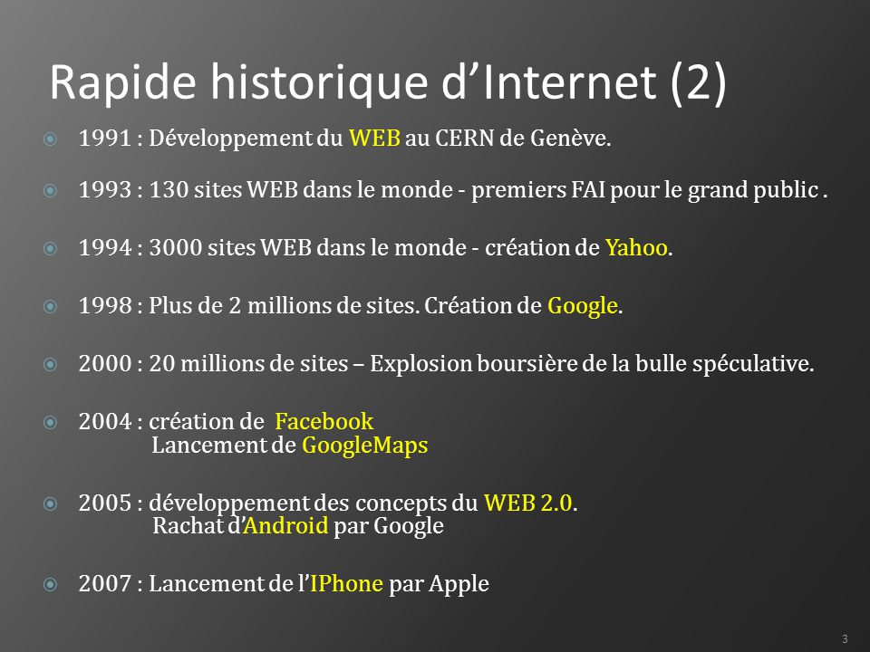 Rapide historique d'Internet (2)