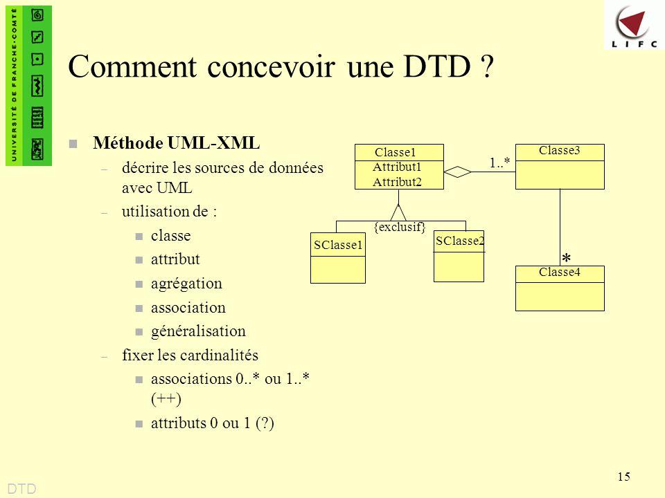 Comment concevoir une DTD