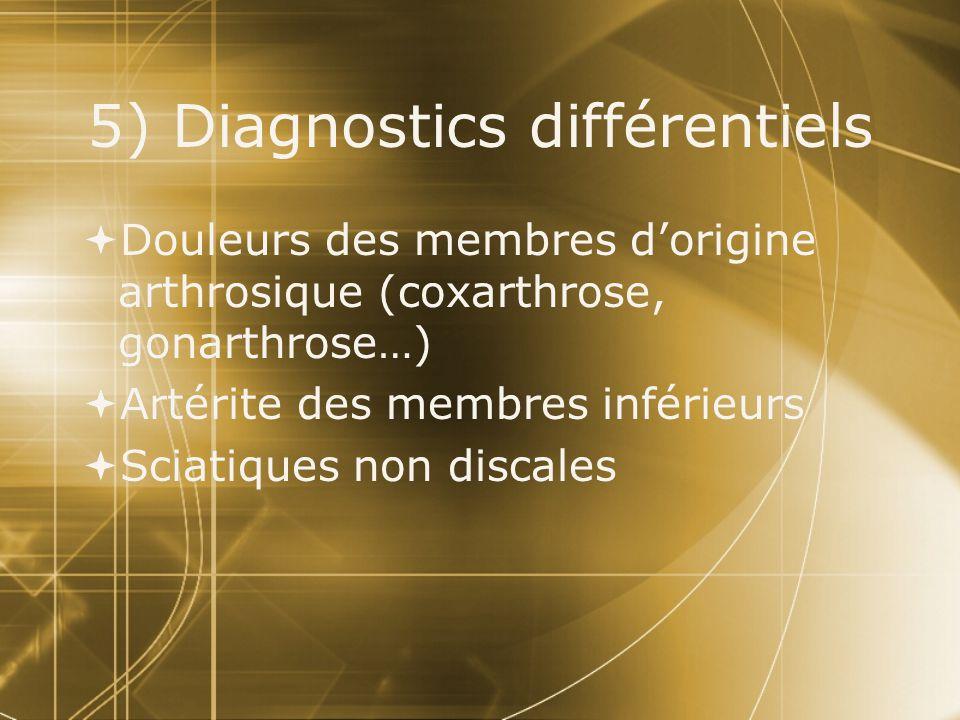5) Diagnostics différentiels