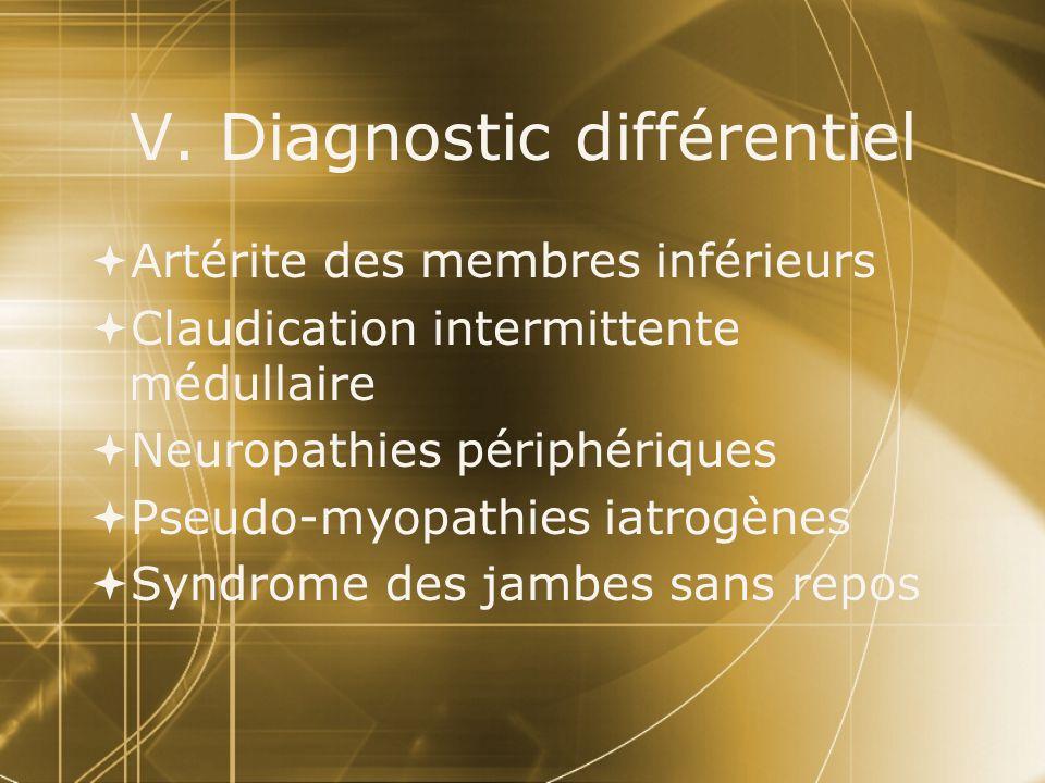 V. Diagnostic différentiel