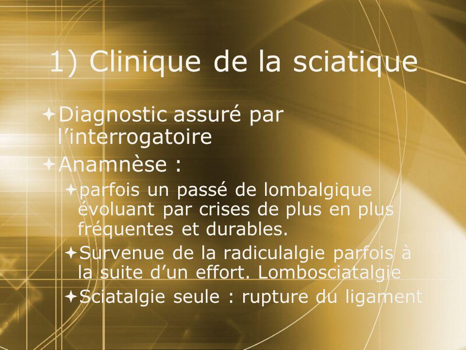1) Clinique de la sciatique