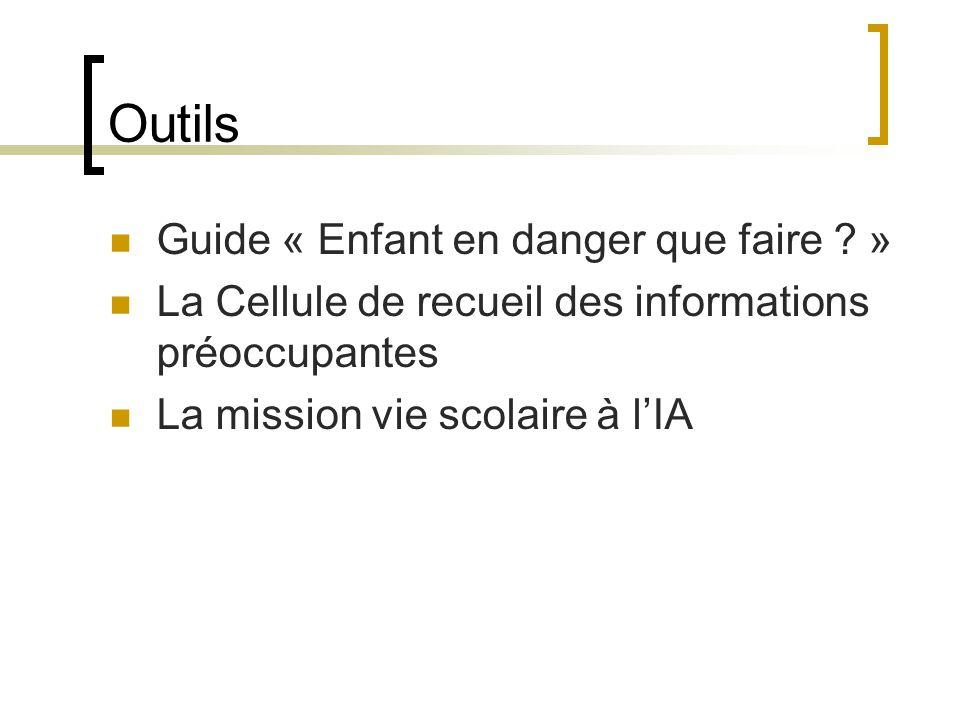 Outils Guide « Enfant en danger que faire »