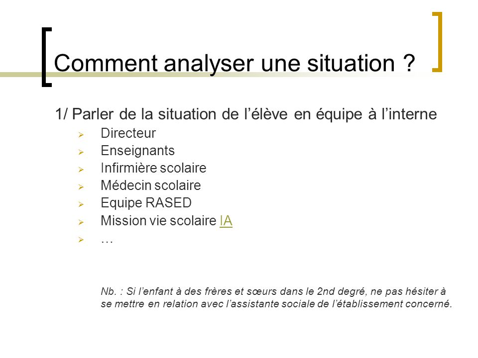 Comment analyser une situation