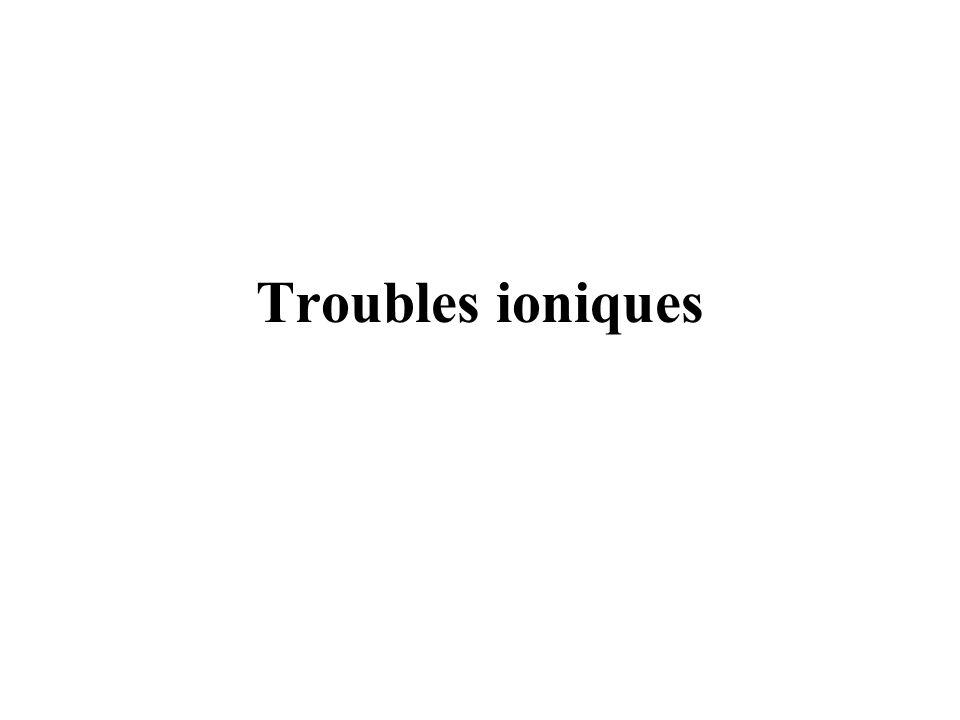 Troubles ioniques