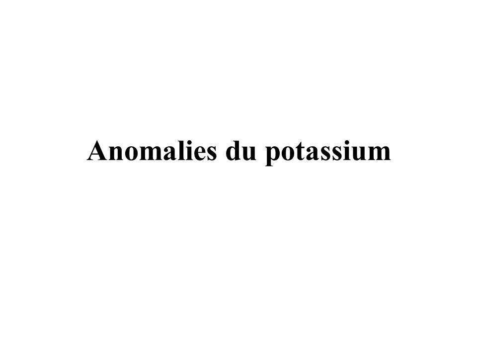 Anomalies du potassium