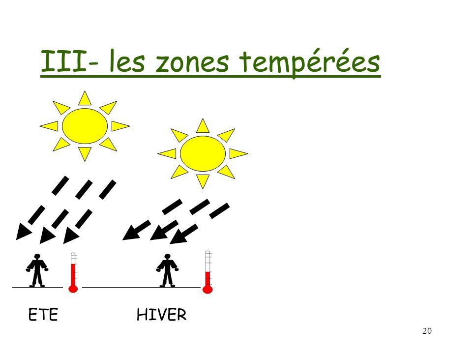 III- les zones tempérées