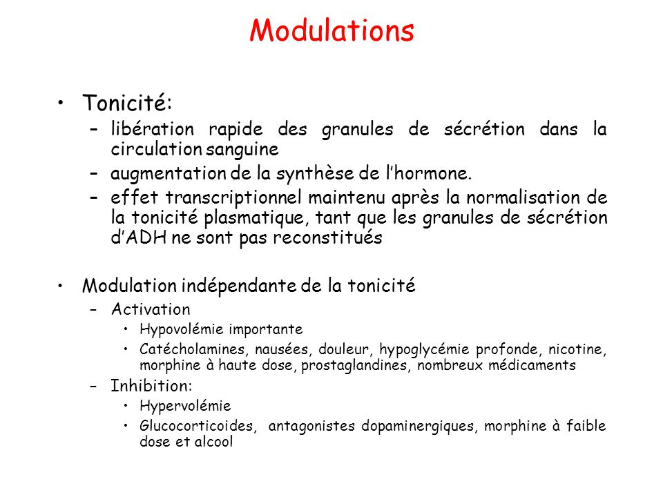 Modulations Tonicité: