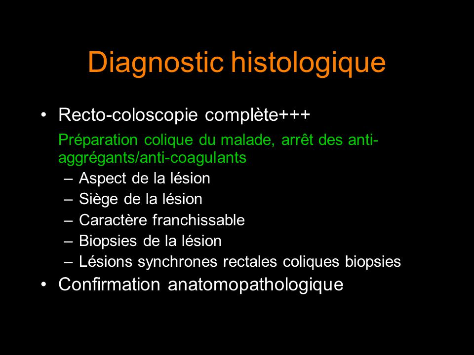 Diagnostic histologique