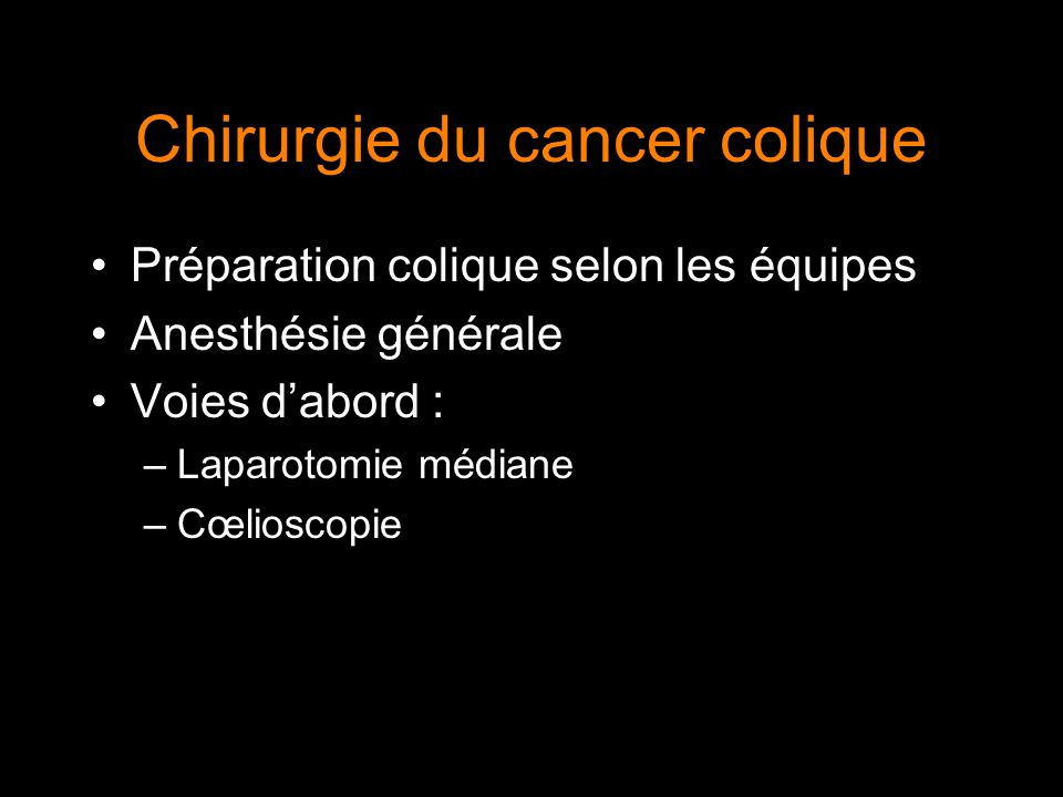 Chirurgie du cancer colique