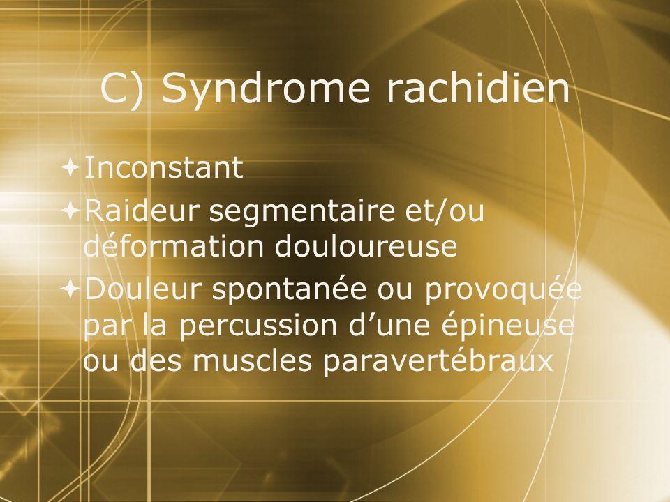 C) Syndrome rachidien Inconstant