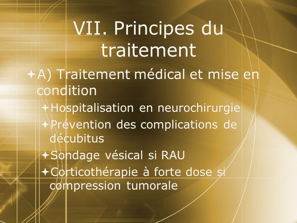 VII. Principes du traitement