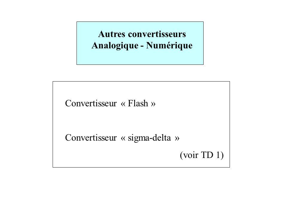 Autres convertisseurs Analogique - Numérique