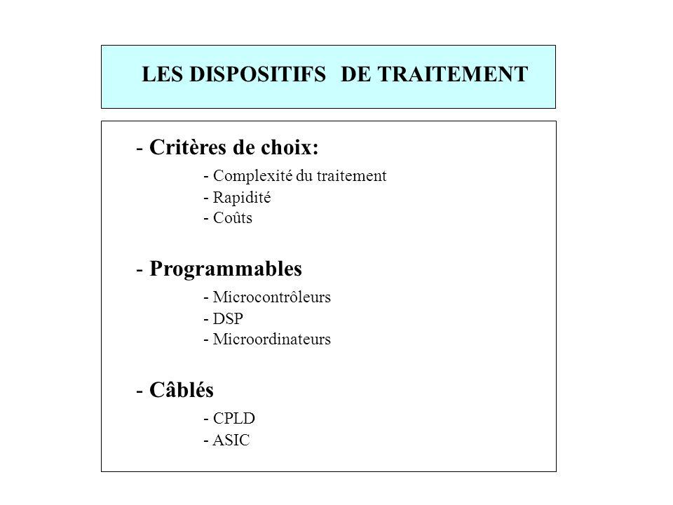 LES DISPOSITIFS DE TRAITEMENT