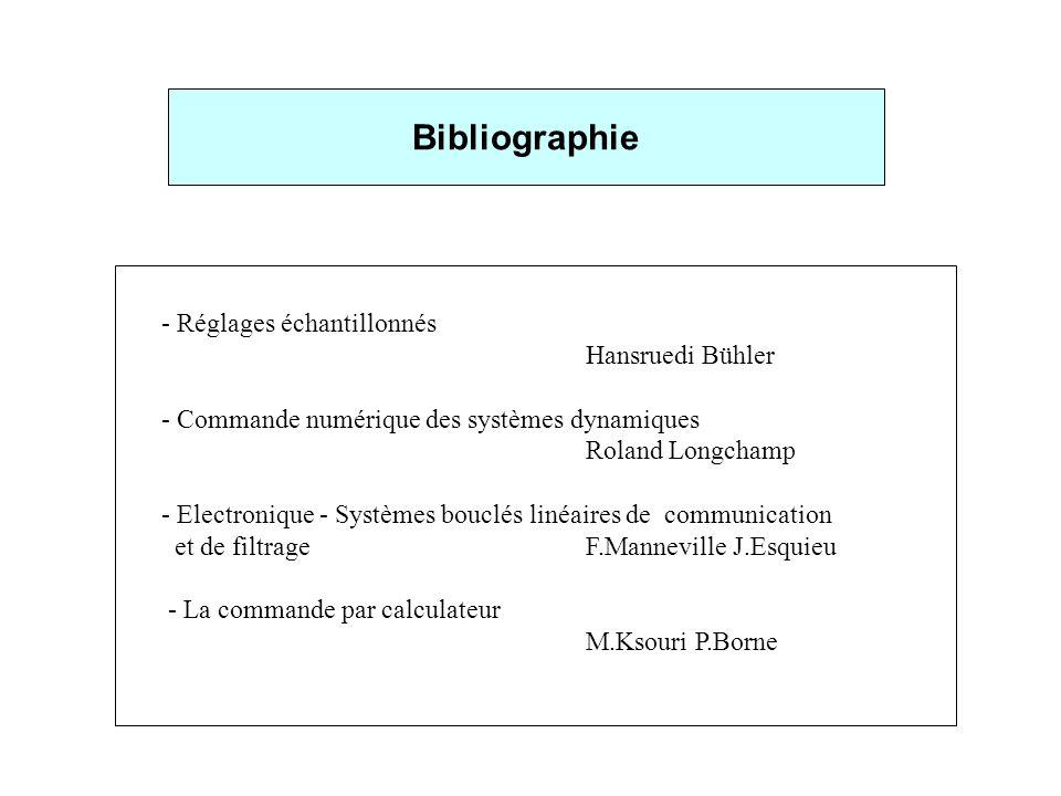 Bibliographie - Réglages échantillonnés Hansruedi Bühler