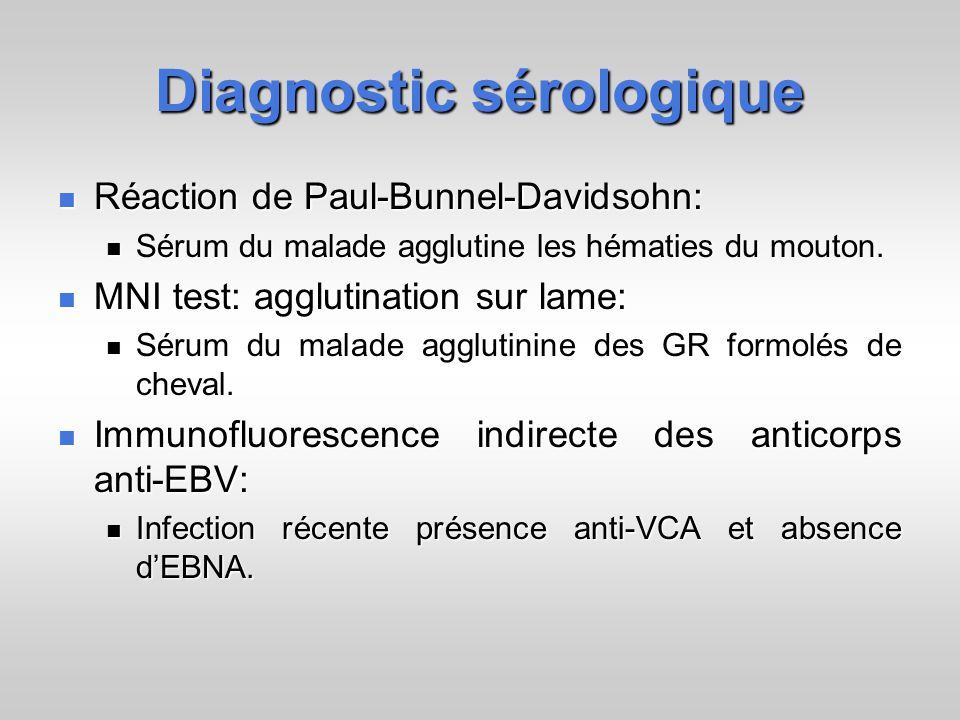Diagnostic sérologique