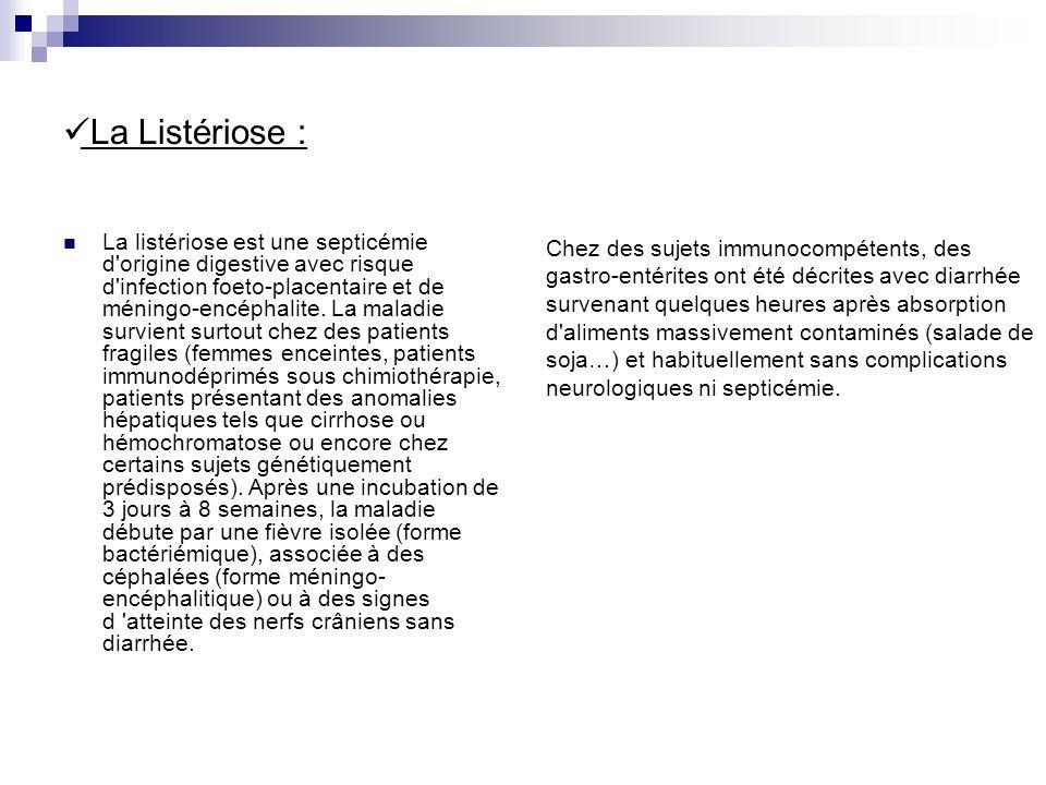 La Listériose :