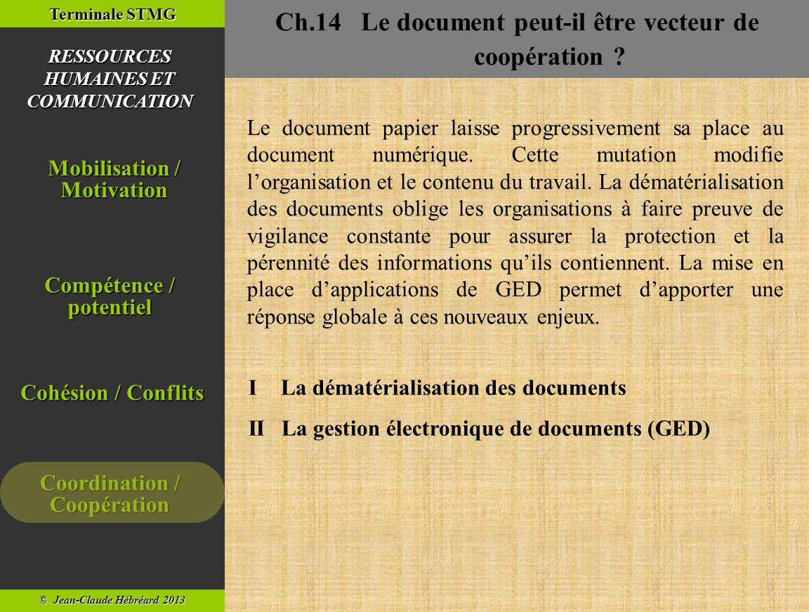 Ch.14 Le document peut-il être vecteur de coopération