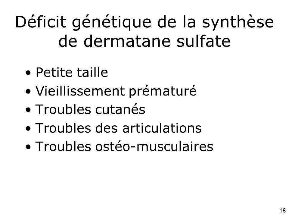 Déficit génétique de la synthèse de dermatane sulfate