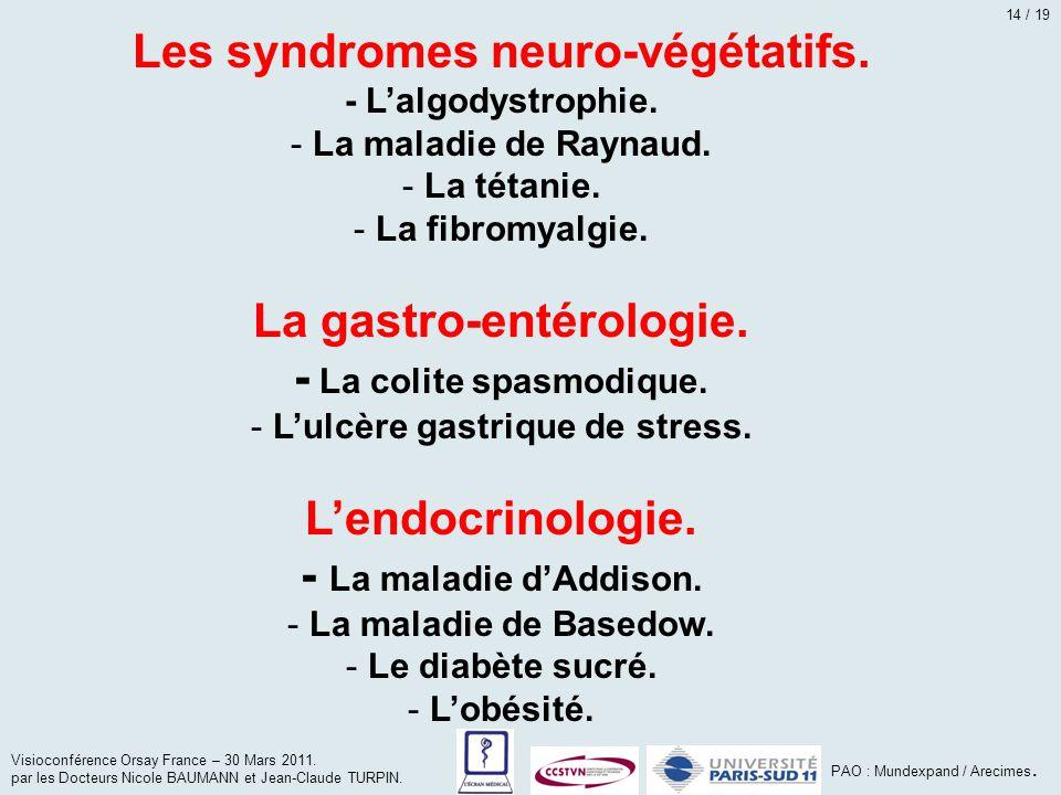 Les syndromes neuro-végétatifs.