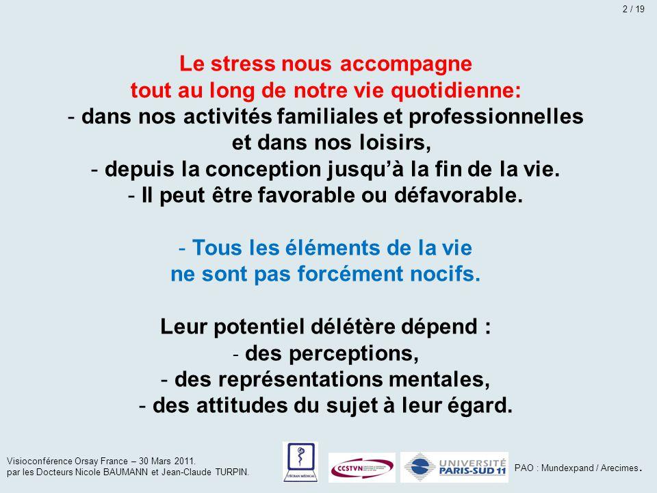 Le stress nous accompagne tout au long de notre vie quotidienne: