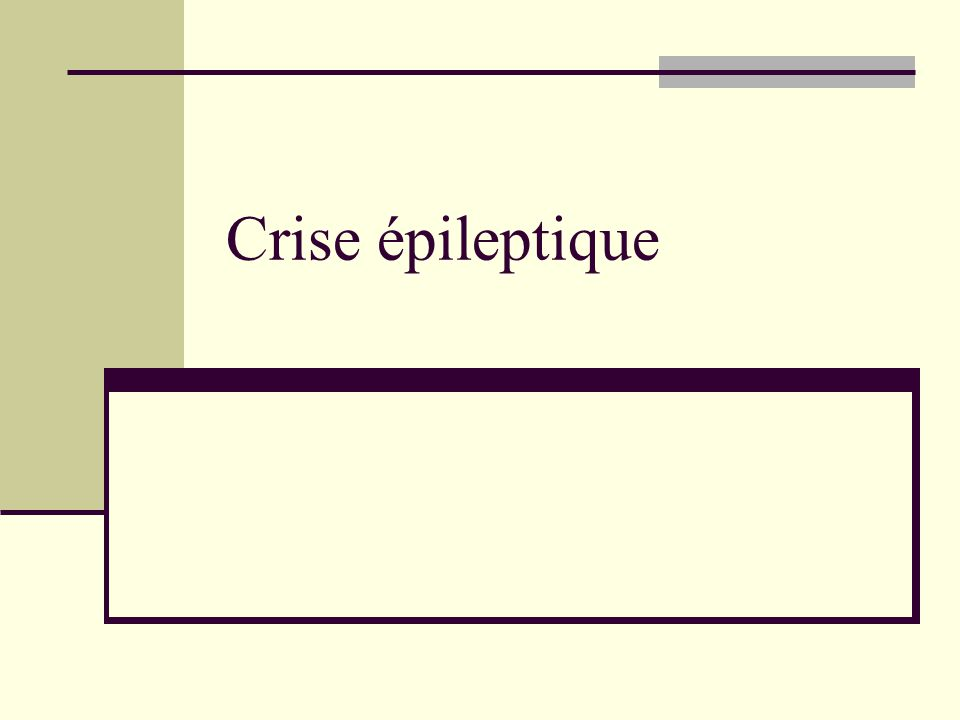 Crise épileptique