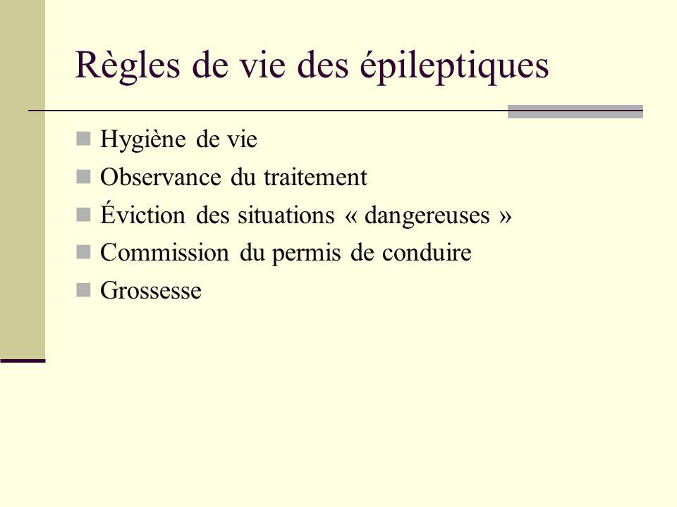 Règles de vie des épileptiques