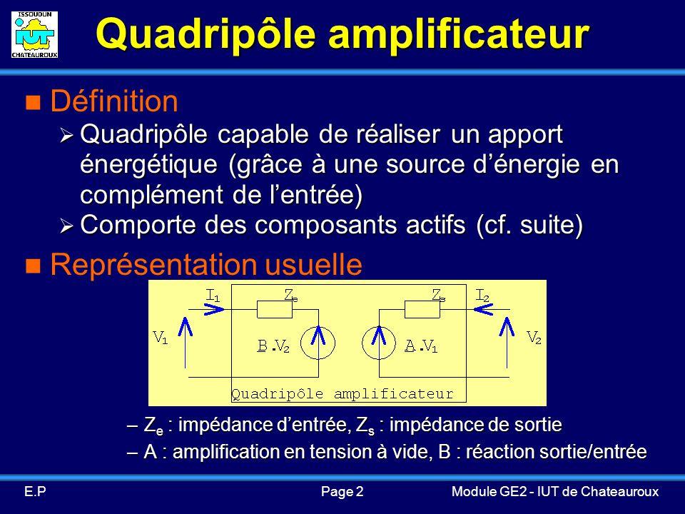Quadripôle amplificateur