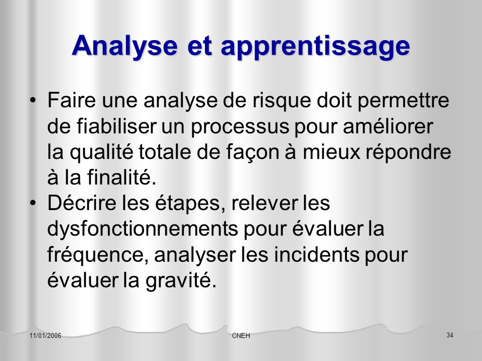 Analyse et apprentissage
