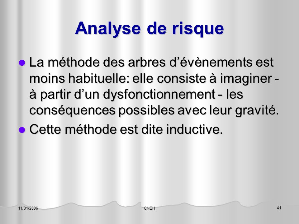 Analyse de risque