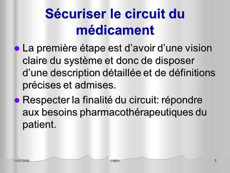 Sécuriser le circuit du médicament