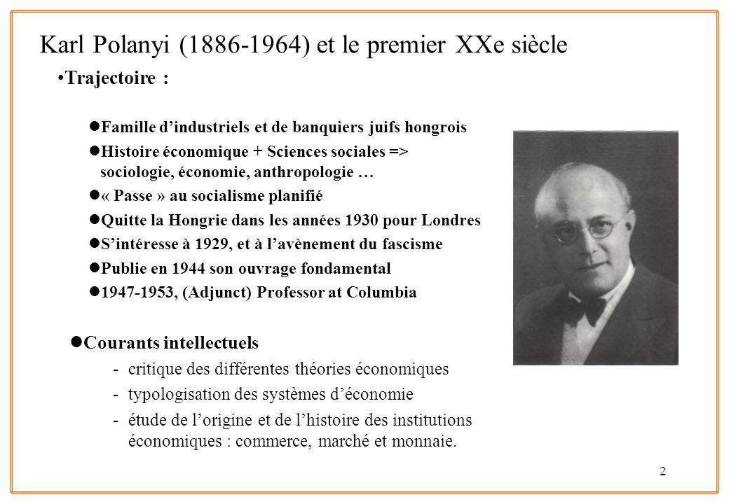 Karl Polanyi (1886-1964) et le premier XXe siècle