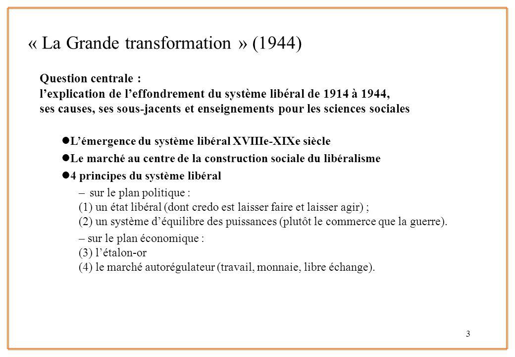 « La Grande transformation » (1944)