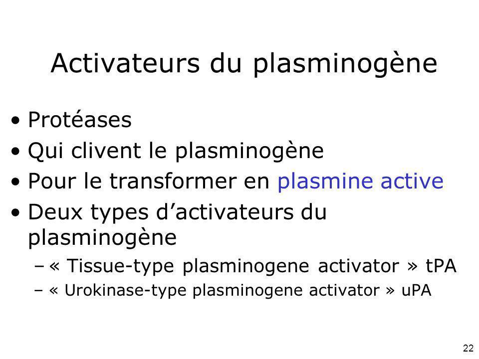 Activateurs du plasminogène