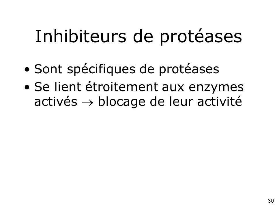 Inhibiteurs de protéases